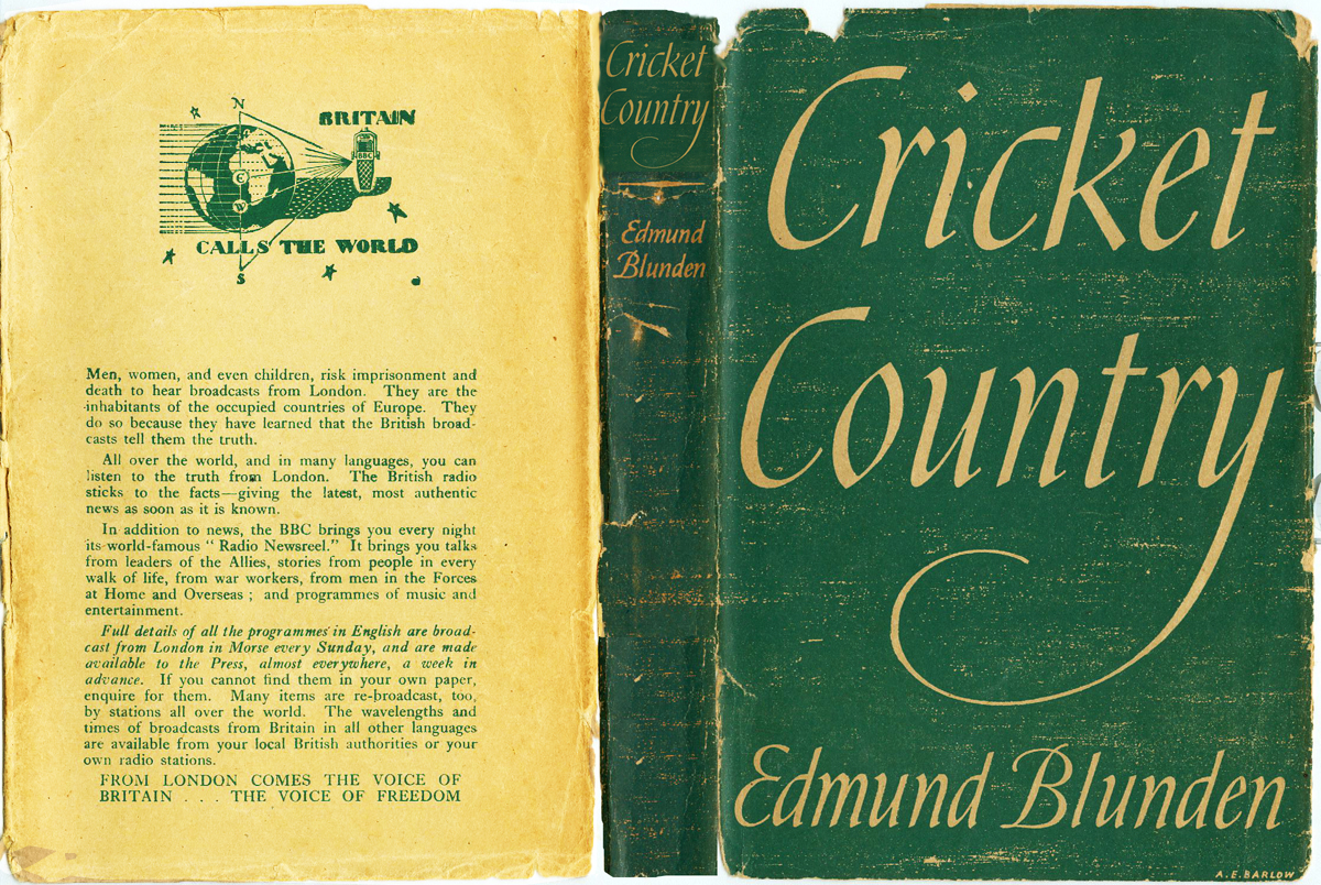 Edmund Blunden 'Cricket Country' cover